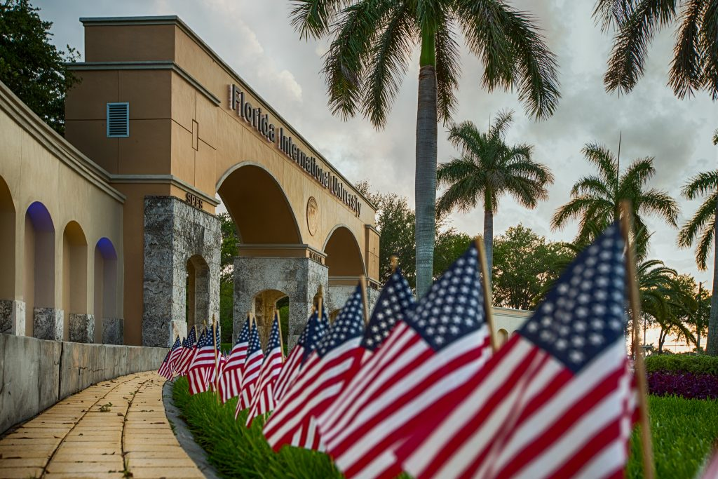 USA flags at FIU