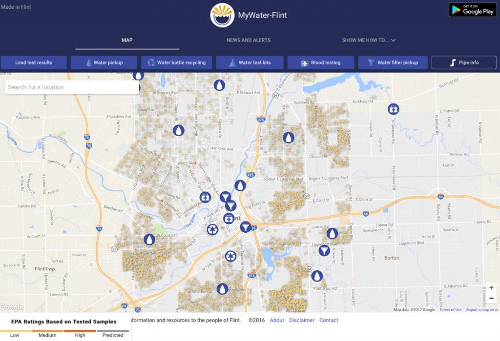 Mywater Flint App